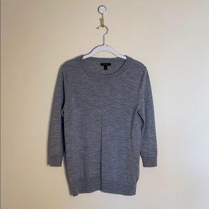 J. Crew 3/4 Sleeve Grey Sweater